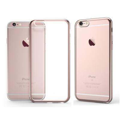透明殼專家 iPhone6s/6 Plus超薄電鍍TPU保護殼(軟殼)+保貼組