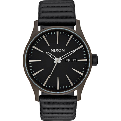 NIXON SENTRY LEATHER 冷冽爵士時尚腕錶-A1052138/42mm