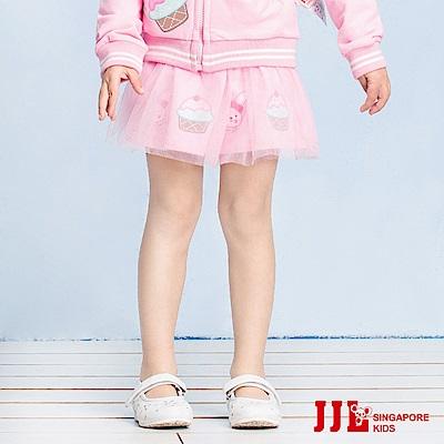 JJLKIDS 日系萌兔蛋糕鬆緊公主紗裙(粉紅)