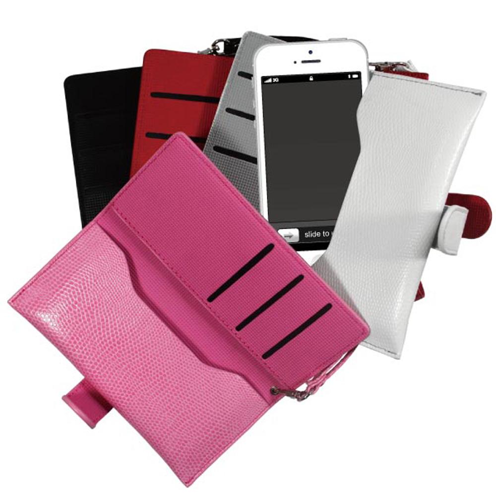 iPhone5/5S/SE 韓版經典側開手機收納包-蛇皮紋路