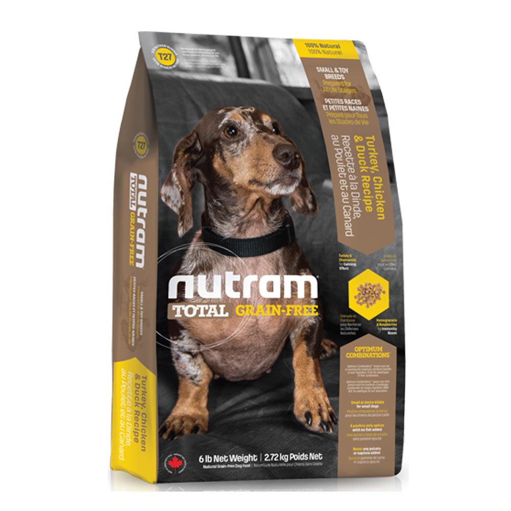 Nutram紐頓 T27無穀迷你犬 火雞配方 犬糧 2.72公斤