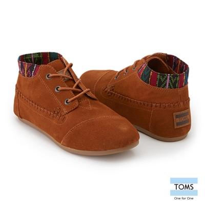 TOMS-部落麂皮短靴-女款-褐
