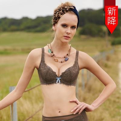 曼黛瑪璉-包滿意bra  B-F罩杯內衣(太妃棕)