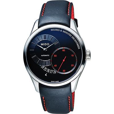 MIDO Belluna II Gent 時分偏心機械腕錶-黑/39mm