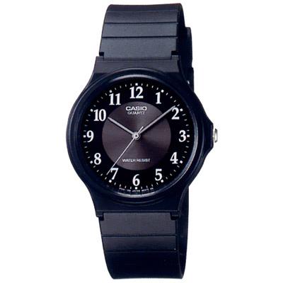 CASIO 超輕薄感指針錶(MQ-24-1B3)-黑