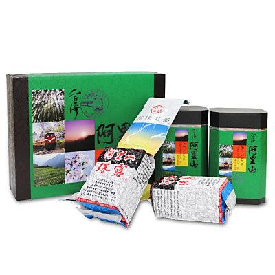台灣茗茶 阿里山手採珠露高冷茶2入禮盒(附提袋)