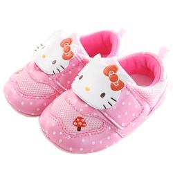 Hello Kitty點點魔鬼貼女寶寶鞋 粉 sk0209 魔法Baby