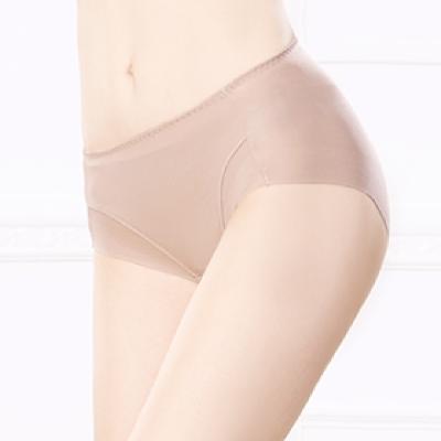 內褲 健康抑菌竹炭中腰M-XL無痕內褲 可可咖 可蘭霓Clany