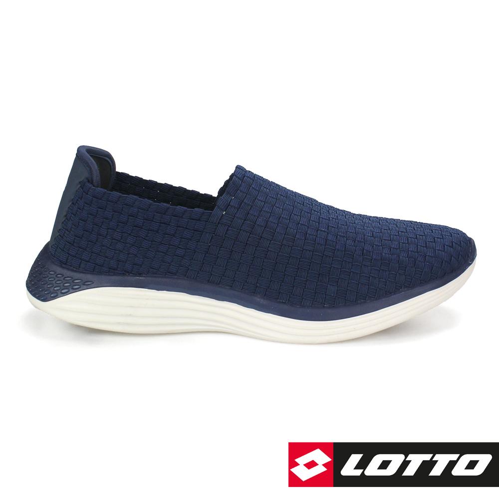LOTTO 義大利 男  WOVEN 編織健步鞋(丈青)