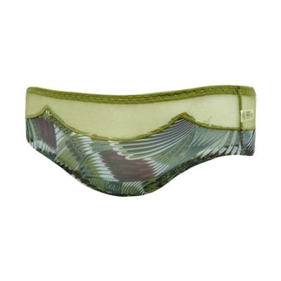 【曼黛瑪璉】混時尚III  低腰寬邊三角網褲(孔雀綠)