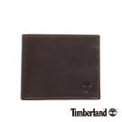 Timberland 男款深咖啡色多夾層經典款皮革短夾
