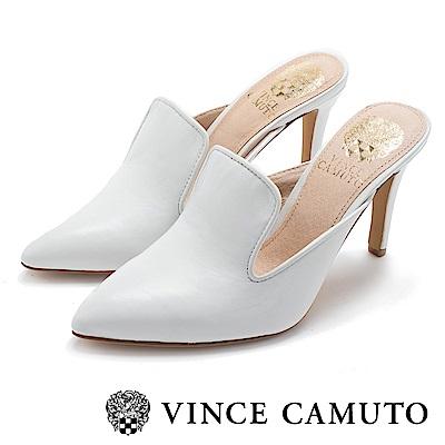 Vince Camuto 都會側V口尖頭高跟涼鞋-白色