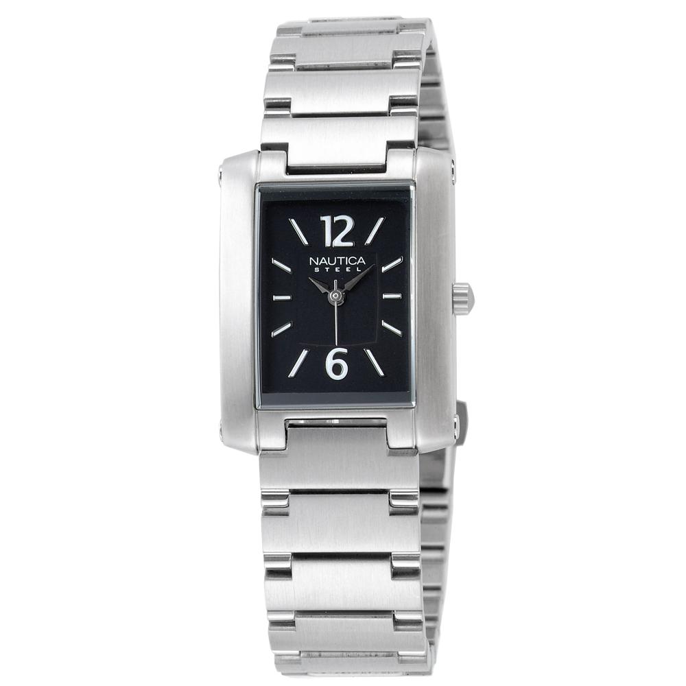 【NAUTICA】簡約時尚腕錶(黑/24mm)