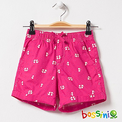 bossini女童-印花輕便短褲03玫瑰色