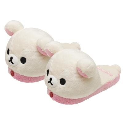 拉拉熊可愛生活系列大頭毛絨保暖拖鞋。懶妹