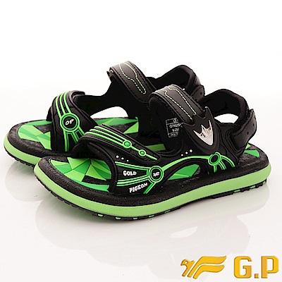 GP涼鞋-磁扣兩穿涼鞋-SE625B-60綠(中大童段)