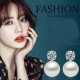 梨花HaNA  韓國925銀經典妝飾點鑽珍珠