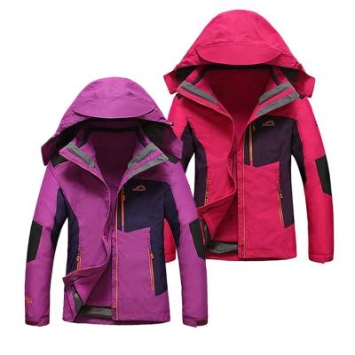 美國熊-防風保暖-防撥水-女款機能型兩件式加厚風衣