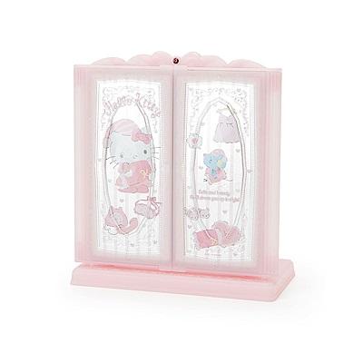 Sanrio HELLO KITTY浪漫公主風桌上型三面立鏡(甜蜜睡衣)