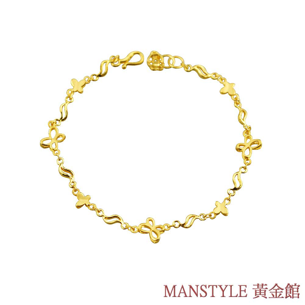 MANSTYLE 隨心相伴黃金手鍊 (約1.46錢)