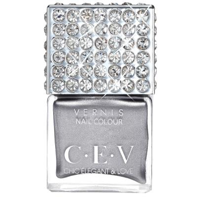 CEV超釉光極緻指彩- LC05銀色月光 指甲油 15mL