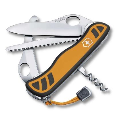 VICTORINOX 6用單手開防滑刀殼瑞士刀-橘