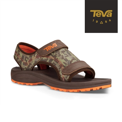 TEVA 美國 中童 Psyclone 4運動涼鞋(咖啡灰)
