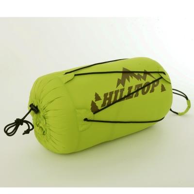 【hilltop山頂鳥】超撥水立體隔間保暖蓄熱輕量羽絨睡袋F16X55-綠