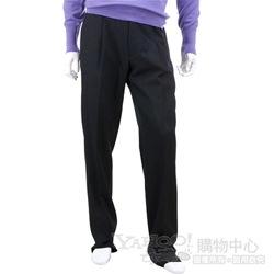 BOSS 黑灰色抓褶西裝長褲