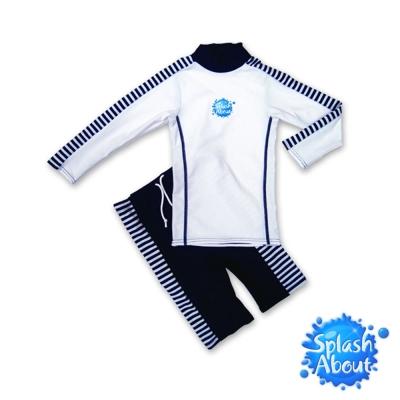 潑寶 Splash About - 兒童抗 UV 游泳套裝 - 藍白條紋(4-6歲)