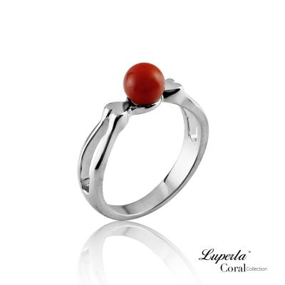大東山珠寶 全紅珊瑚純銀戒指 雙雙對對