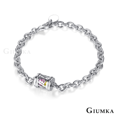 GIUMKA白鋼情侶手鍊 心戀寶盒系列LOVE-共2款