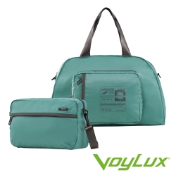 Voylux伯勒仕-百貨專櫃-魔術收摺系列-兩用摺疊側背包 / 旅行袋-孔雀藍