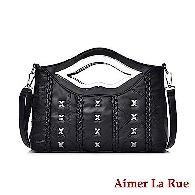 Aimer La Rue 側背包 羊皮唇感造型系列(二款)