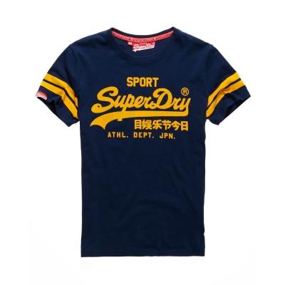 SUPERDRY 極度乾燥 文字短袖 T恤 深藍 0045