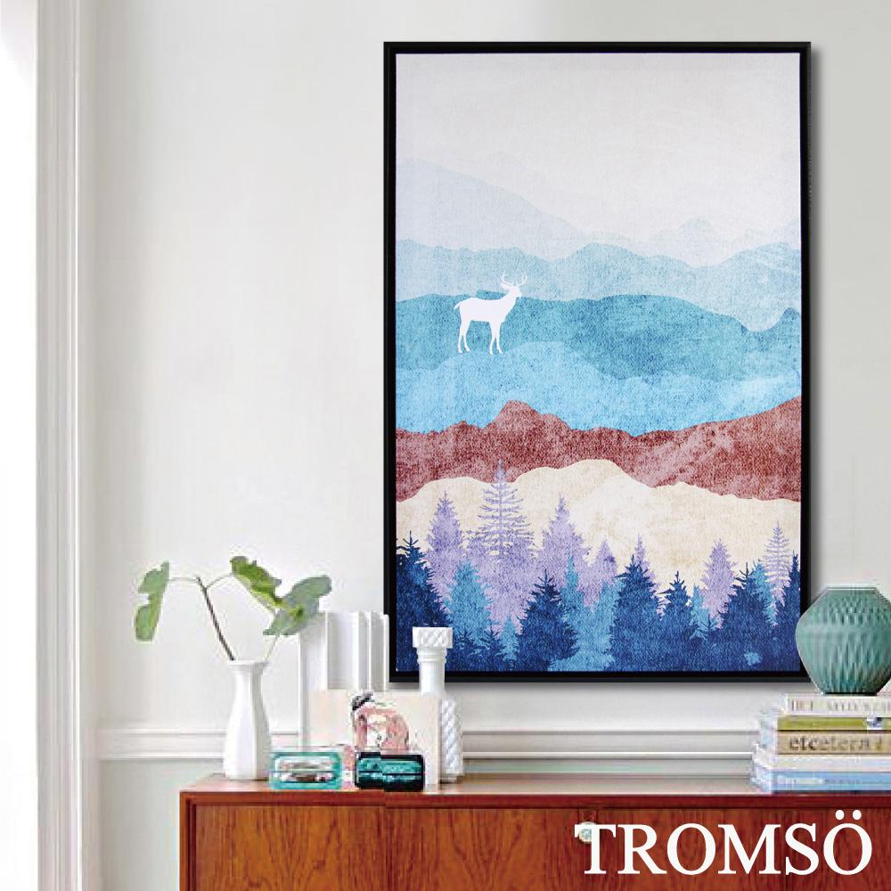 TROMSO北歐時代風尚有框畫-麋鹿山境B40*60cm