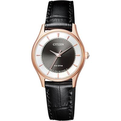 星辰 CITIZEN Eco Drive現代簡約時尚腕錶(EM0402-05E)