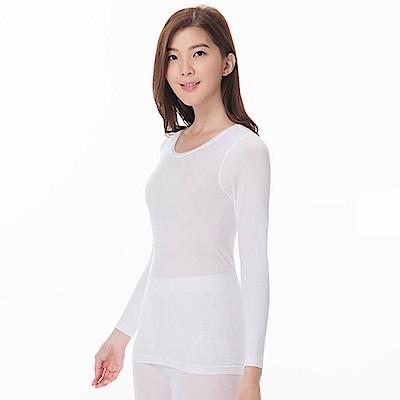 zuzai 自在發熱衣親膚羽感長袖保暖衣-女-白色