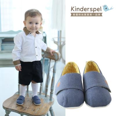 Kinderspel 輕柔細緻‧棉花糖休閒學步鞋(皇家藍騎士)