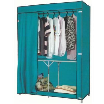 免工具 125公分寬-折疊式-鐵管吊衣櫥/吊衣架(附布套)4色可選