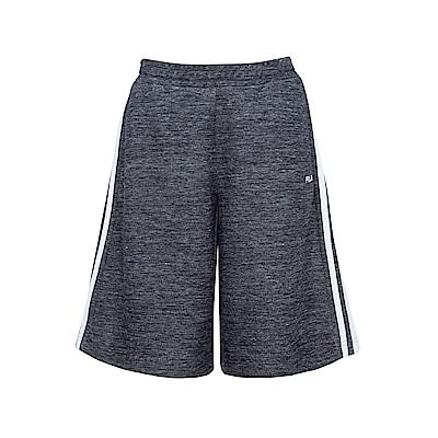 FILA 女寬鬆五分褲-黑 5PNS-1439-BK