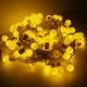 聖誕燈100燈LED圓球珍珠燈串(插電式/暖白光透明線/附控制器跳機)(高亮度又省電) product thumbnail 1