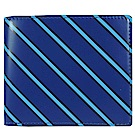 agnes b. 斜紋兩折短夾-藍