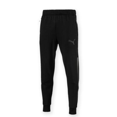 PUMA-男性訓練系列束口棉質長褲-黑色-歐規