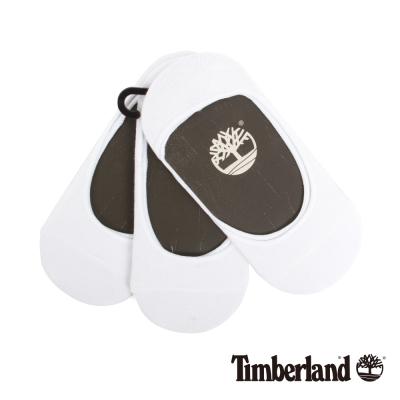 Timberland 女款白色涼感材質純色襯墊船型襪