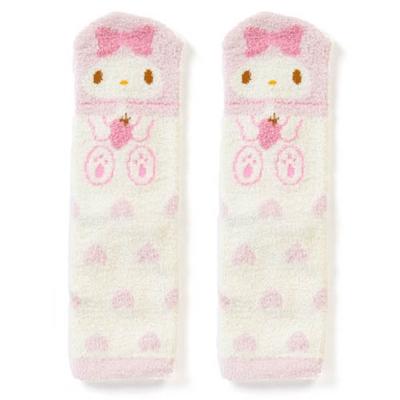 Sanrio 美樂蒂盒裝Fluffy中筒保暖襪(愛心草莓)