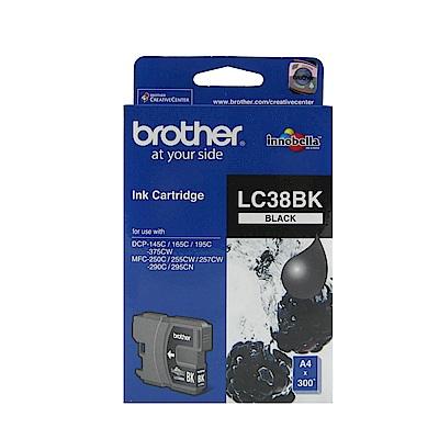 Brother LC38-BK 原廠黑色墨水匣