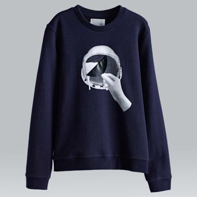 摩達客韓國進口設計品牌DBSW太空帽啤酒圓領長袖T恤