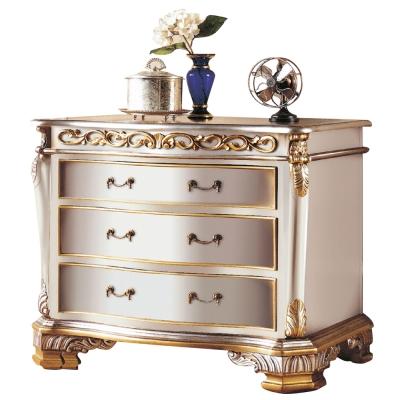 AT HOME-羅登4尺法式香檳色三抽櫃