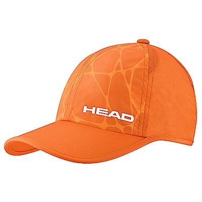 HEAD奧地利 透氣排汗網布 輕量運動帽-橘 287068